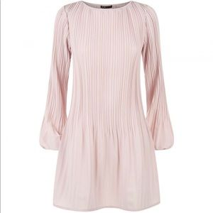 Maje pink pleated dress